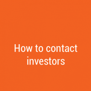 How to contact investors – do I need to write a business plan